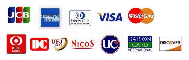 カード支払い取り扱い会社一覧